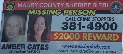 Maury County Sheriff and FBI Missing Person Notice